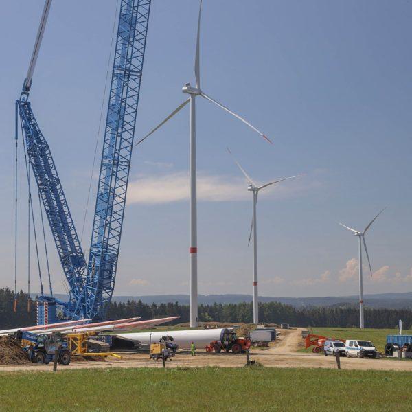 Větrné elektárny v Jindřichovicích ve výstavbě